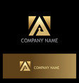 triangle square gold icon logo vector image vector image