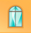 window on yellow background vector image vector image