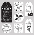 Winter tag set vector image vector image