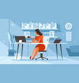 woman at desk vector image vector image