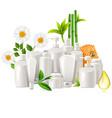 natural cosmetics concept vector image
