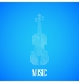 with the violin vector image