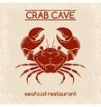 Crab seafood emblem template vector image