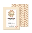 wedding vintage invitation in retro design with vector image