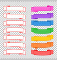 a set of color and monochrome banner ribbons with vector image vector image