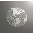 abstract world map sphere America vector image vector image