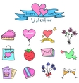 art of valentine element vector image vector image