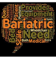 Bariatric Scales text background wordcloud concept vector image vector image