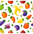 Bitten fruits seamless pattern vector image vector image