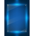 Blue digital background and glass panels vector image vector image