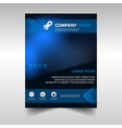 blue document template vector image