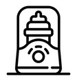 bottle warmer icon outline style