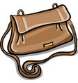 brown leather bag vector image