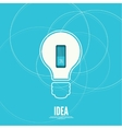Bulb light idea with switch vector image vector image