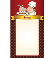Cafe menu template vector image