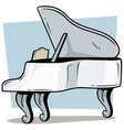 cartoon wooden white grand piano icon vector image vector image