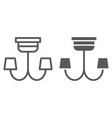 chandelier line and glyph icon furniture and home vector image vector image