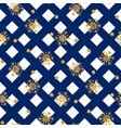 christmas gold snowflake seamless pattern vector image vector image