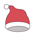 christmas hat santa claus on colorful silhouette vector image vector image