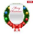 christmas wreath greetings vector image