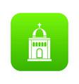 church icon digital green vector image vector image