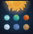 color space landscape background with solar system vector image vector image