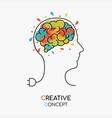 creative art idea concept of human brain vector image vector image