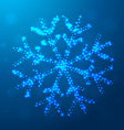 creative christmas snowflake design vector image