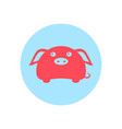 cute piggy circular icon vector image vector image