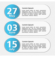 Design Template with Dates vector image