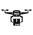 drone free shipping icon simple style vector image vector image
