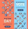 election signs banner vecrtical set vector image vector image