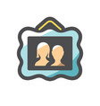 family picture couple photo icon cartoon vector image vector image
