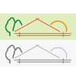 farm symbol vector image vector image