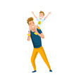 father spend time with son dad carrying little vector image vector image