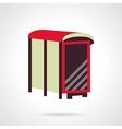 Flat color bus stop billboard icon vector image vector image
