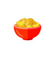 flat potato chips icon vector image vector image