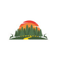 forest icon design vector image