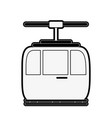 funicular cable car icon image vector image vector image