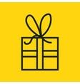 gift present box icon vector image