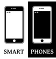 graphic image of smart phone vector image