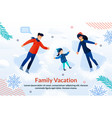 happy family vacation and joyful time ad poster vector image vector image