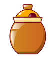 honey jug icon cartoon style vector image vector image