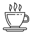 hot coffee cup icon outline style vector image