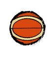 isolated basketball ball icon vector image vector image
