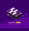isometric people and interfaces glow banner vector image vector image