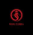 king cobra logo vector image vector image
