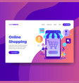 landing page template online shopping vector image vector image