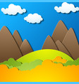 landscape with silhouettes of mountains vector image