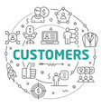 line flat circle customers vector image vector image